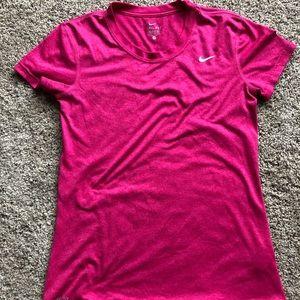 Pink Nike Dri-Fir T-Shirt